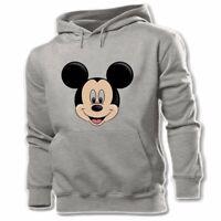 Disney Mickey Mouse Head Unisex Mens Womens Hoodie Sweatshirt Pullover Hoody Top