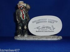 Emmett KellyJr Collectors Society Dealers Plaque Figurine Looking Collectible!