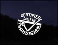 Cable Tie Technician Car JDM Funny Car Decal Euro Drift VAG VW DUB Vinyl Sticker