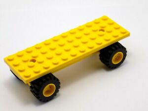 LEGO Yellow Car Chassis Base 4x12 with Wheel Holders Constructions 6565 30278