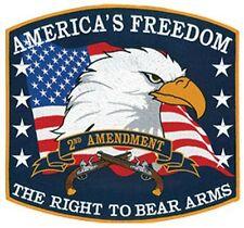 "AMERICA'S Freedom 2ND Amendment 12""x10-7/8"" sew on high quality Emblem / Patch"