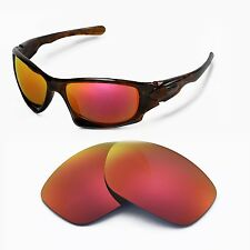 New Walleva Polarized Fire Red Replacement Lenses For Oakley Ten Sunglasses
