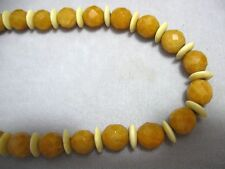 "Necklace 16"" W/Extension Faceted 10Mm Quartz Stone"