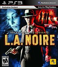 L.A. Noire (Sony PlayStation 3, 2011) PS3 LA