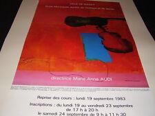 AFFICHE GUIRAMAND VILLE DE MASSY.ECOLE DE DANSE ET DE MUSIQUE .1983.51,5X80CM