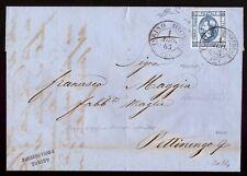 REGNO 1863 - 15 c. n.13e VARIETA' DOPPIA STAMPA Cert. COLLA RARITA'