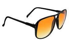 Mujer Negro Aviador Moderno Gafas De Sol Marrón Ahumado Lentes uv00 Incluye Kit