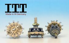 ITT W. Germany 80s CERAMIC Rotary Switch  2 pole 2 positions 2P2T NON SHORTING