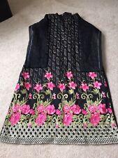Asian indian pakistani Black net dress Brand New Without Tags Size Large