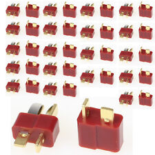 20 Pairs 40pcs T Plug Connector Female Male Deans For RC Lipo Battery Helicopter