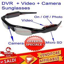 OCCHIALI DA SOLE CON MICRO TELECAMERA SD USB SPIA REGISTRATORE SPY