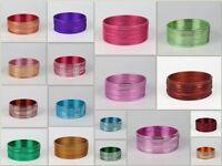 Indian Bollywood Plain Colored Bangle Bracelet 12pcs - 12 colors