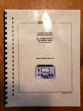 Hewlett Packard Hp Operating And Service Manual 6282A Dc power supply