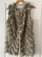 River Island Faux Fur Gilet Size 10