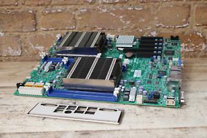 SuperMicro X9DRD-iF 2 Socket LGA2011 Server Motherboard, Heatsinks and Backplate