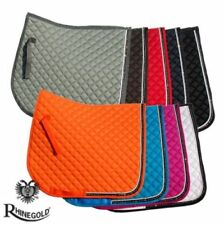 BACK IN STOCK  rhinegold elite crystal diamante trim Saddle Pad cloth numnah