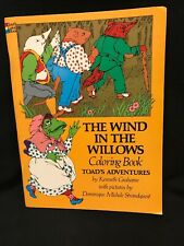 Dover Coloring Book The Wind In The Willows Toad's Adventures VTG 1976