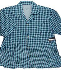 Nautica Men's Cotton Nightshirt Button-up Short Sleeve Spring Breezy Blue Sz. S