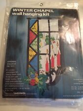 1979 Lee Wards Christmas Felt Sequined Wall Hanging Kit WINTER CHAPEL Sealed