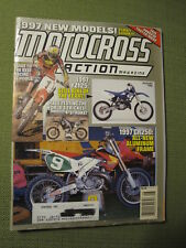 1996 August MOTOCROSS ACTION Magazine moto x mx dirt bike racer AHRMA Vintage