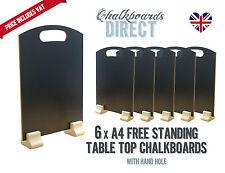 A4 chalk board/handheld table top pub menu black board pack of 6 (A4-H)