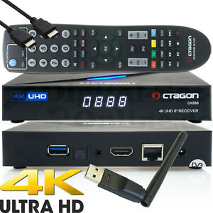 Octagon SX888 IP 4K H.265 Hevc UHD Iptv Set-Top Boîte Stalker Xtream M3U + Wi-Fi
