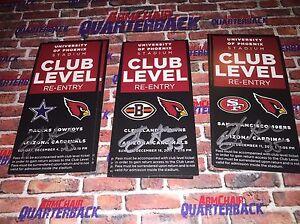Anthony Sherman autographed Arizona Cardinals Premium Level Pass vs Cowboys