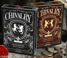 Chivalry Gold & Silver 2 Deck Set Bundle Playing Cards Poker Size Custom Limited