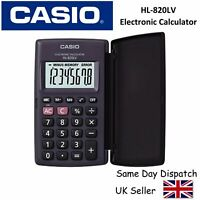 CASIO HL-820LV HL820LV CALCULATOR - Large Display, Pocket size - inc COVER