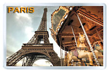 PARIS CARROUSEL EIFFEL TOWER FRIDGE MAGNET SOUVENIR IMAN NEVERA