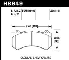 Hawk Disc Brake Pad Front for 09-17 Camaro / Corvette / CTS / Camaro ZL1