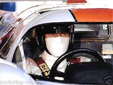 STEVE MCQUEEN LE MANS 24 HOURS RACING PHOTOGRAPH  MIKE DELANEY GULF  PORSCHE 917