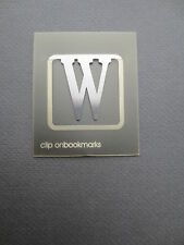 BOOKMARK Letter Initial W Alphabet Steel Clip CHRISTMAS Gift Present Birthday