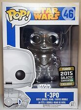 Funko Pop E-3PO #46 Chrome Star Wars Bobble Head 2015 Con Excl Slightly Damage