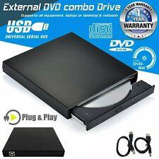 Slim Extern USB 2.0 DVD Brenner Laufwerk DVD-ROM CD-RW für Notebook PC Laptop