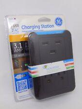 GE 3 USB + 2 AC Outlets Charging Station 3.1 Amp 15 Watt - 14505