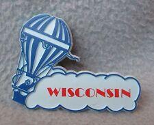 Vintage Hot Air Balloon Wisconsin Rubber Magnet, Travel, Souvenir, Blue