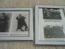 Superman II 2 Reeve General Zod Fight scenes photos Original Lobby card Framed