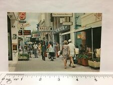 Postcard Curacao Heerenstraat Shopping Street Tourist Stores Chrome Vintage