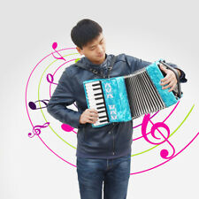 IRIN 22 Keys 8 Bass Piano Accordion for Accordion Beginners Students Wooden Blue