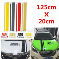 125x30cm Car Engine Cover Hood Sticker Decal StripePersonalised Decoration