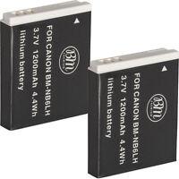 BM 2X NB-6L NB-6LH Batteries For Canon Elph 500 HS, D10, D20, D30, S90, S95 S120
