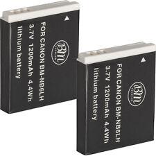 BM 2X NB-6L NB-6LH Batteries For Canon SX170 IS, SX260 HS, SX280 HS, SX540 HS