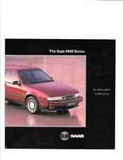 SAAB 9000 SERIES CD AND CS MODELS  SALES BROCHURE MID 90's