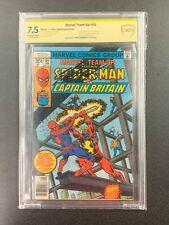 Marvel Team-Up #65 Claremont Sig Newsstand CGC 7.5 1978 1st App Cap Britain