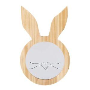 Ellen DeGeneres Natural Wood Bunny Ears Shaped Decorative Mirror  NEW