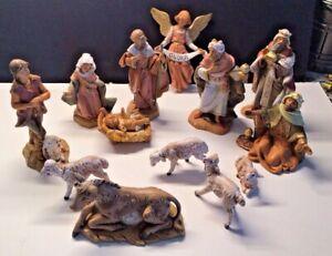 15 piece set fantinini nativity made in italy 1991