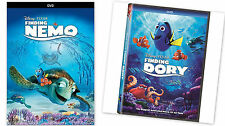 2 PACK - Finding Dory + Finding Nemo (DVD, 2016) Animation COMBO NOW SHIPPING !