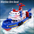 Electric Marine Rescue Fire Water Jet Boat Warship Toy For Kids Flashing Music