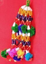 Banjara Tribal  Boho Handmade beaded Mini Bells Fitted Key chain/ handbag charm